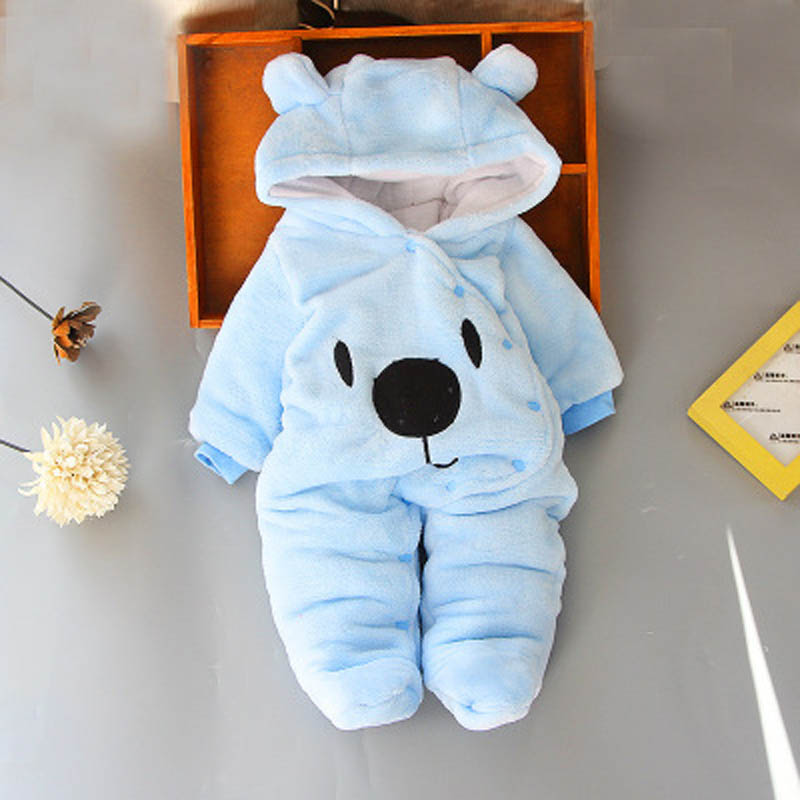 2018 Baby   Rompers   Winter Baby Boy girls Clothes Cotton Newborn toddler Clothes Infant Jumpsuits new born warm clothing one piece