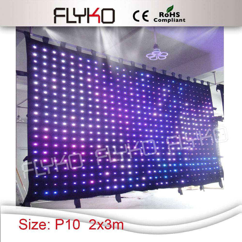 LED Video Curtain RGB (White Curtain)LED Lamp Cloth with Controller and power box