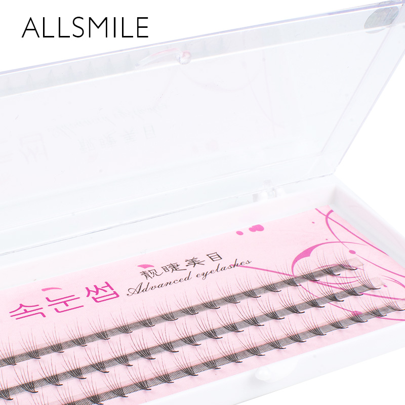 ALLSMILE 6D Natural Long Curl Handmade Grafting False Eyelashes hair Extensions Beauty Makeup False Lashes Tools kit
