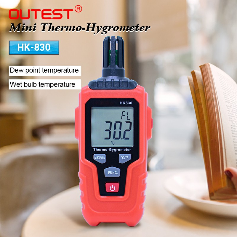 цена на OUTEST digital thermo-hygrometer Temperature Humidity Meter Weather Station Temperature Sensor 0- 100%RH