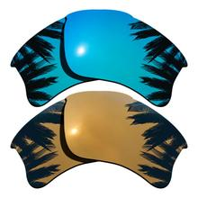 Ледяные синие зеркальные и бронзовые золотистые зеркальные поляризованные Сменные линзы для плаковой куртки XLJ Frame UVA и UVB