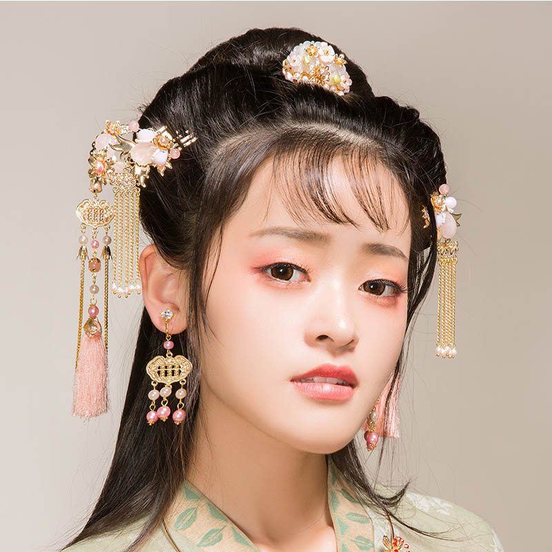 FORSEVEN Earring-Set Wedding-Jewelry Bride New Headdress Phoenix Hairpin Coronet Chinese