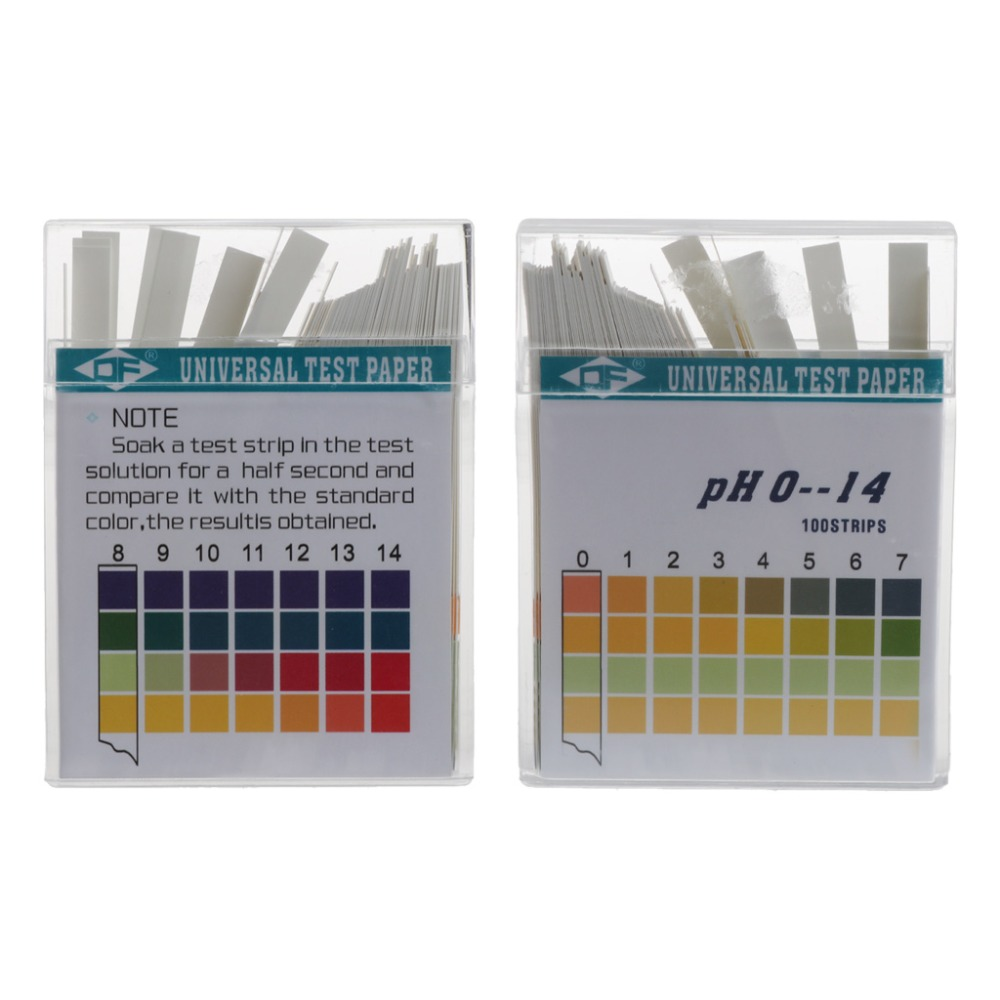 100 Strips 0 14 Ph Alkaline Acid Indicator Paper Water