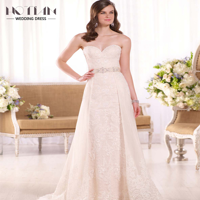 2017 New Design Simple Beach Wedding Dress Luxury French Style The ...