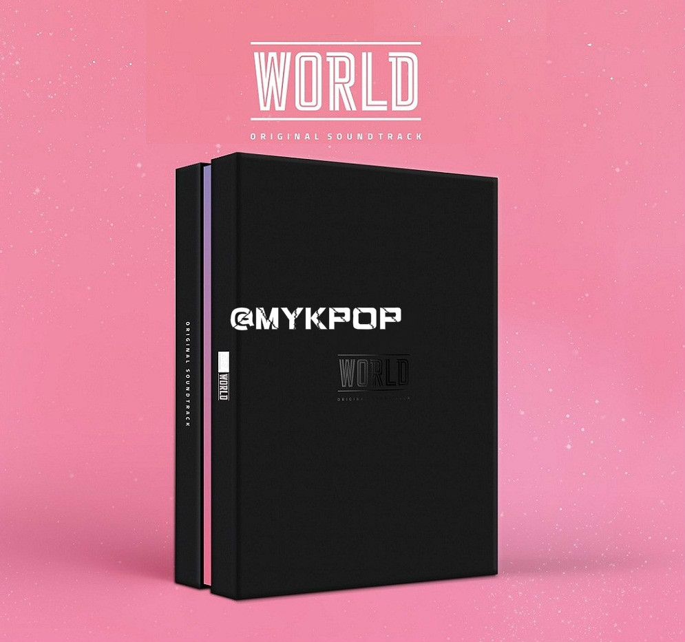 [MYKPOP] ~ officiel ~ KPOP Album: WORLD OST, CD + Photobook + carte Photo + affiche KPOP article SA19071301