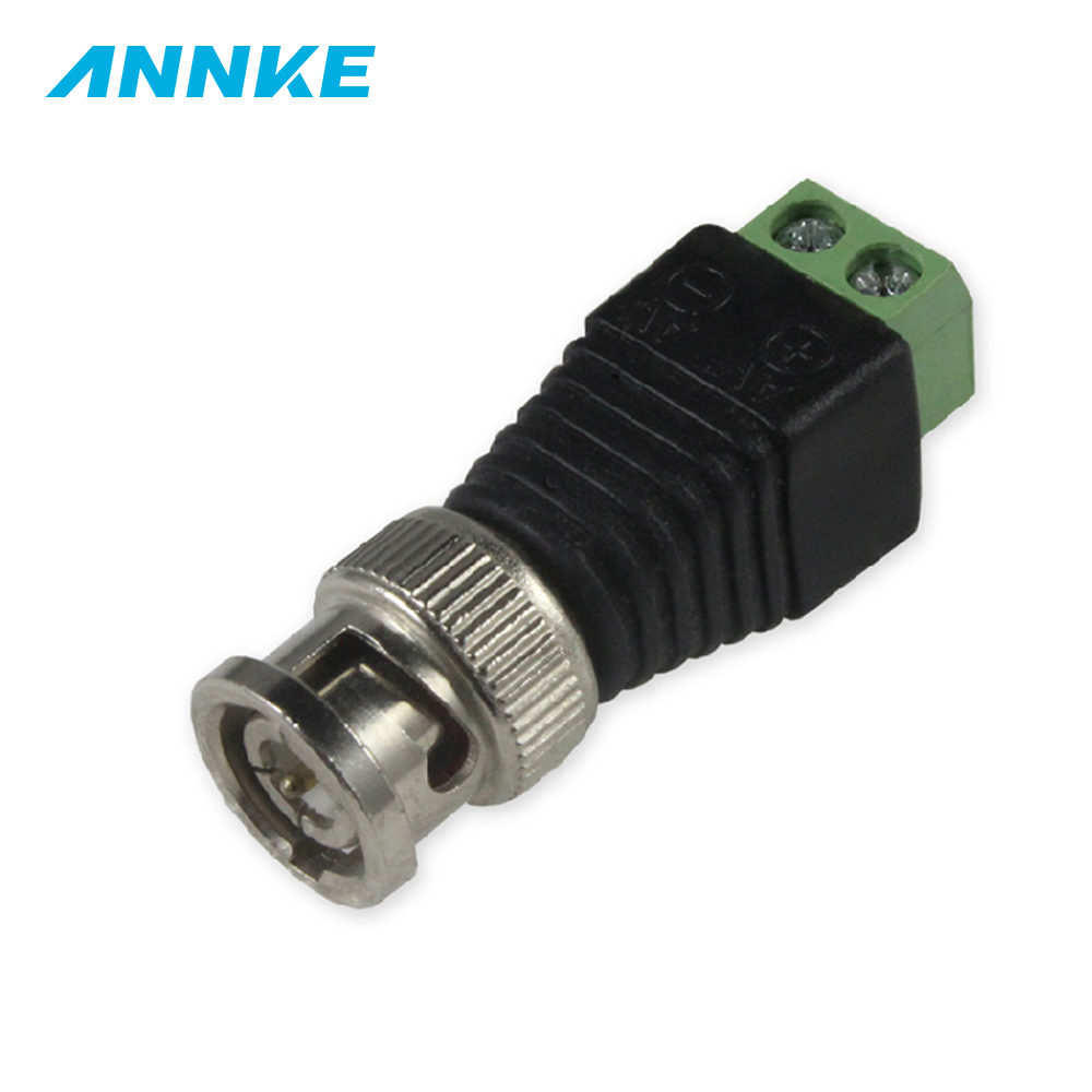 10Pcs/lot Coaxial Coax CAT5 BNC Male Connector For CCTV Camera Security System Surveillance Accessories New Arrival
