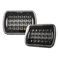 2 Pcs Set 5X7 Inch 90W H4 LED Replacement For Sealed Beam With DRL 7x6 Inch