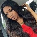 6A grado cordón del cabello humano pelucas para mujeres negro brasileño onda del cuerpo pelucas llenas con el pelo del bebé frente pelucas de cabello humano