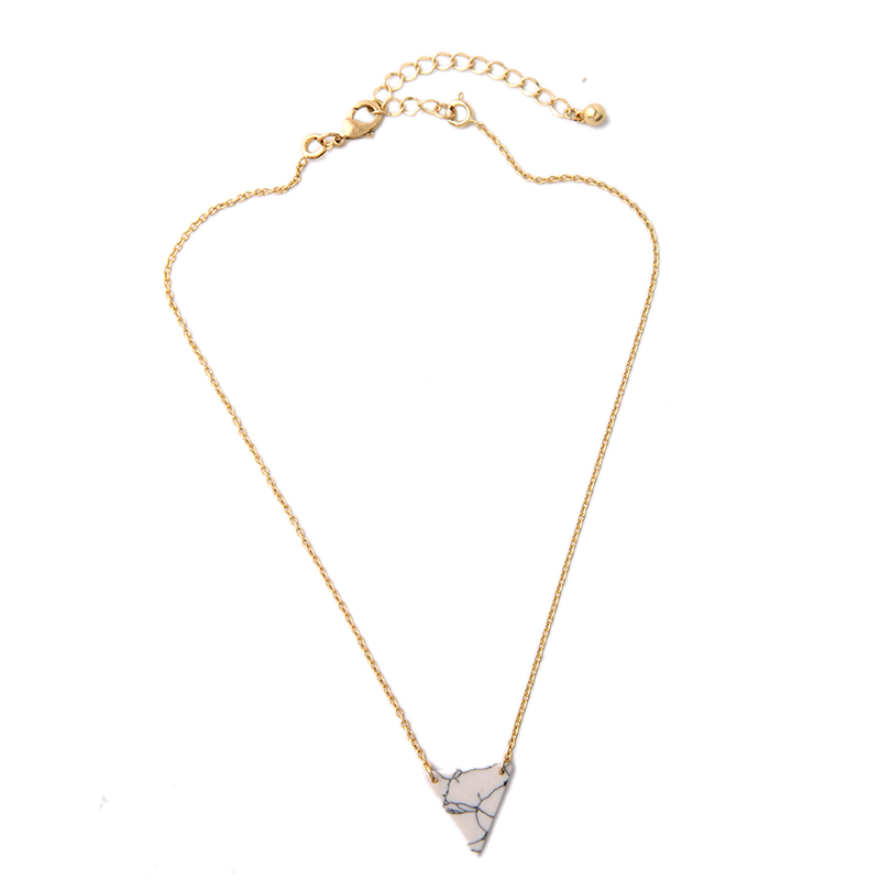 KISS ME Alloy Artificial Marble Triangle Necklace 2016 New Summer - Bisutería - foto 5