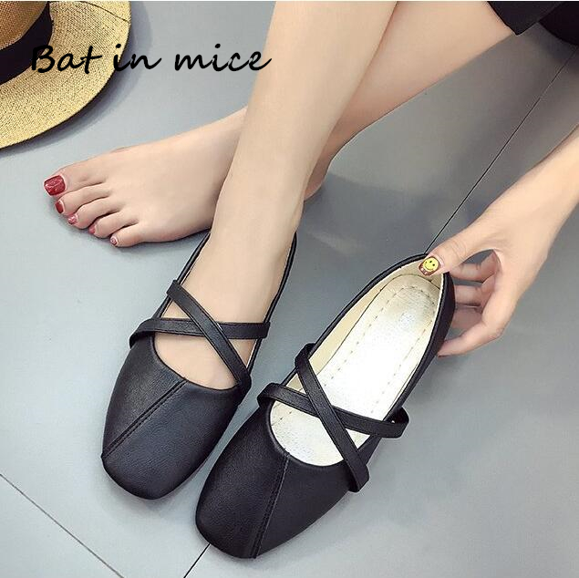 Hot sale spring autumn women shoes PU leather casual flats women shoes Ballet dancing shoes Mujer zapatos plus size 35-40 A160 new women casual boat ballet shoes women round toe flats oxfords breathable lace up walking shoes zapatos plus size 35 40 w237