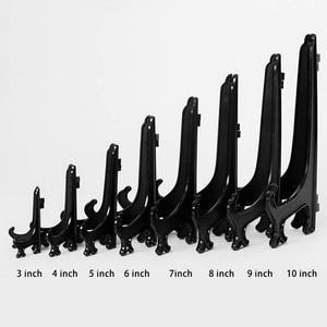 Image 5 - 10 pcs/set Plastic Easels Plate Holders Picture Frames Photo Book Pedestal Holder Portable Display Stand Stander