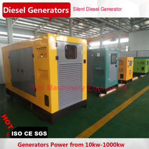 Silent diesel generator 500kw with shanghai engine brushless alternator three phase