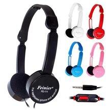 Crianças Dobrável Mais Leve Portátil Fone de ouvido de 3.5mm Fone de Ouvido Com Fio Fones de Ouvido Com Fio Microfone Controle fone de ouvido Para MP3 MP4 Computador