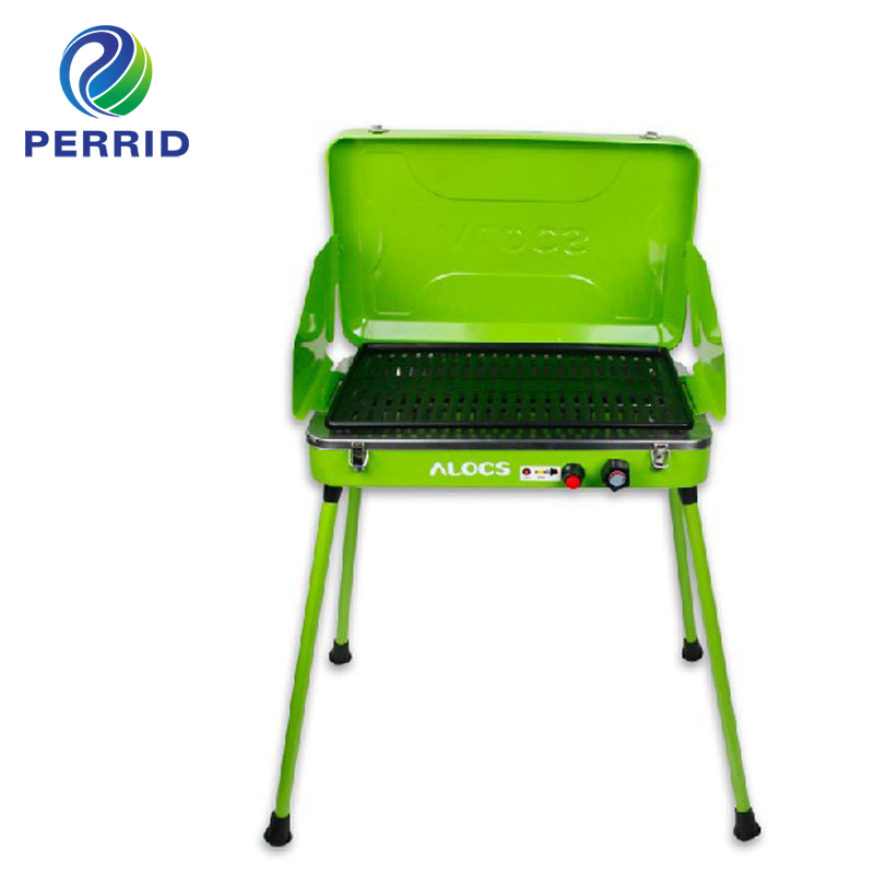 Hiking Camping Equipment Camping Gas Wood Stove Bbq Grill Outdoor Portable Folding Vehicle Gas Camp Stove Cf-Pg04
