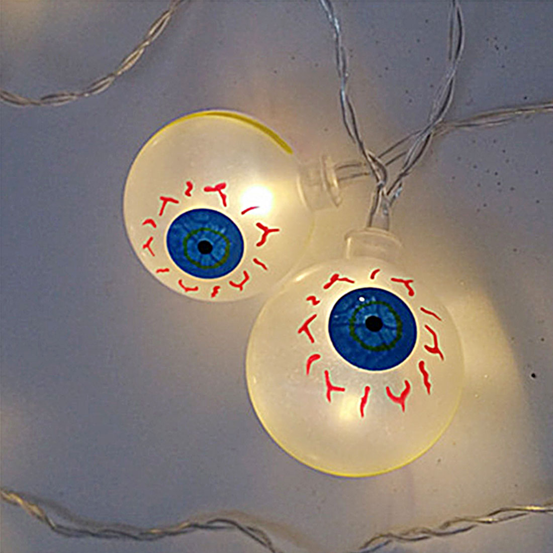 Hot Best 10LED 1.2M Eyeballs Halloween Decor LED String Lights Lanterns Lamp for DIY Home Bar Outdoor Party Supplies