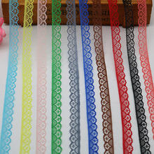 10 yards lace ribbon 14mm wide white trim DIY embroidery sewing decorative African fabric