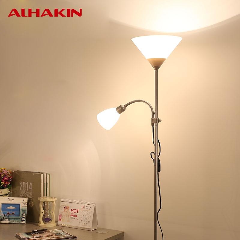 Cheap Alhakin Modern European Floor Lamp Acrylic Vertical Floor Lamp For  Bedroom Living Room Standing Lamps Indoor With Acrylic Floor Lamps
