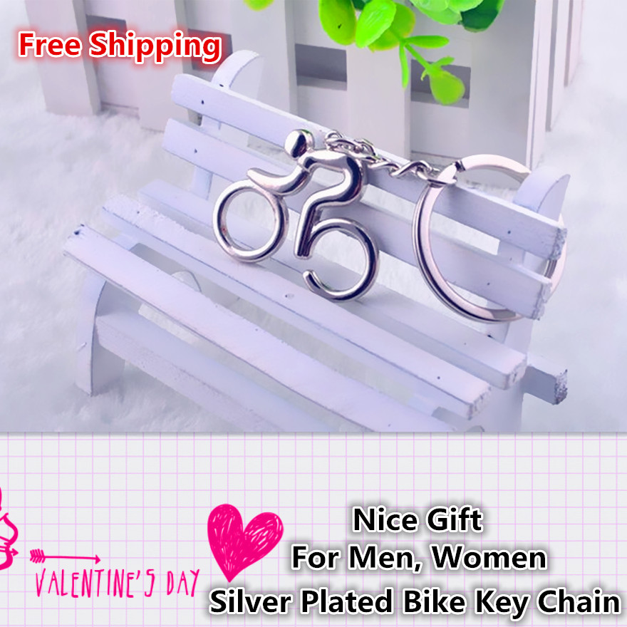 Women Bag Charm Bicycle Trinket Men Key Chain Ring Jewelry Car Accessory Gift Fashion Silver Tone Bike Pendant Keychain Keyring in Key Chains from Jewelry Accessories