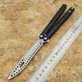 Нож для тренера бабочка с алюминиевой ручкой  Открытый охотничий нож для кемпинга EDC Карманный Нож свободный нож