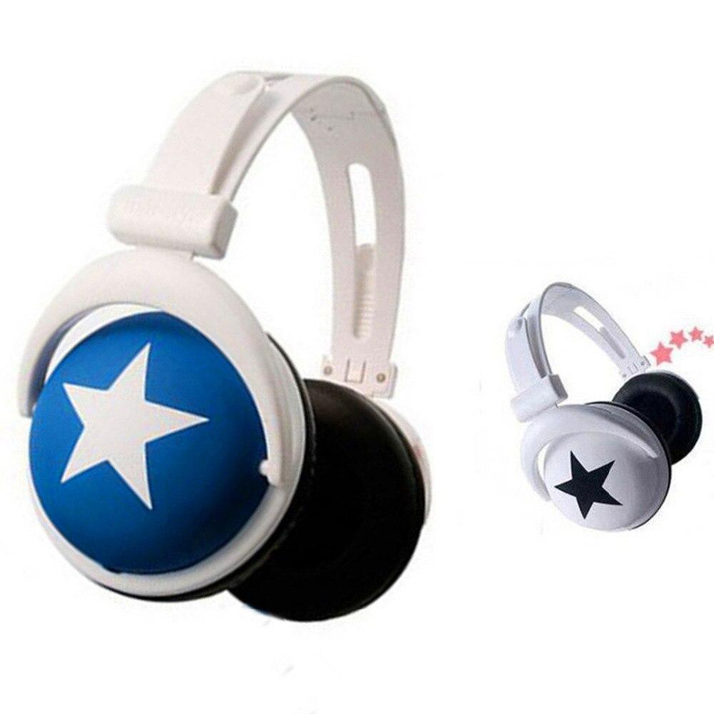 Big Star Headphone Pattern Style 3.5mm Head Type Mega Bass Sports Earphone 1.2M Wired Headphone Headset For MP3 PC Mobile Phone