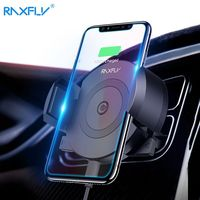 RAXFLY Car Qi Wireless Charger For IPhone X 8 8 Plus 360 Rotation Air Vent Phone