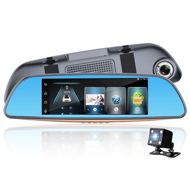 7 Dash Camera Car DVR WiFi Large Screen Driving Recorder Double Recording Inverted Image Parking Monitoring