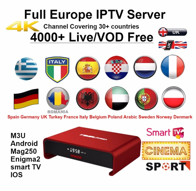 US $7 2 10% OFF|Europe IPTV M3u Subscription Iptv Italy UK German French  Spanish Mediaset Premium For Android Box Enigma2 Smart TV PC Linux-in  Set-top