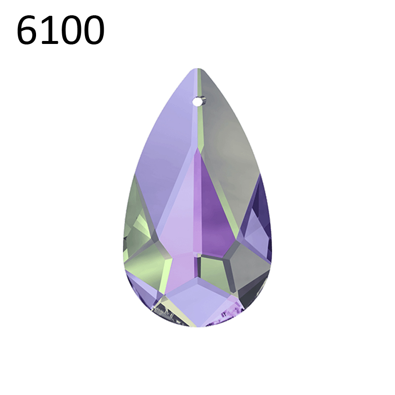 1 piece 100 Original Crystal from Swarovski 6100 Teardrop pendant Made in Austria loose rhinestone for DIY jewelry making in Beads from Jewelry Accessories
