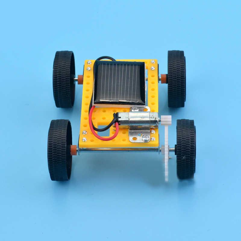 Saizhi 太陽おもちゃ子供のため 1 セットミニおもちゃ DIY ソーラーカーキット子供のための教育おかしいガジェット趣味ギフト SZ33g4