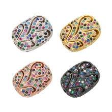 ZHUKOU – perles d'espacement pour collier, boucles d'oreilles, bracelet, accessoires féminins rectangulaires, en cristal bonbon creux, à la mode, 11x15mm, VZ225
