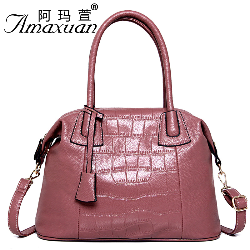 ФОТО New arrival 2016 European and American fashion crocodile pattern handbag simple Ms. portable shoulder bags wholesale BH1352