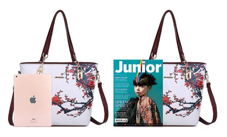 feminino impresso sacos designer 6 peças conjunto