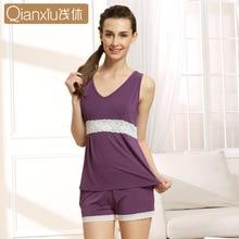 Women's Sleep & Lounge 2016 Summer Pajama Sets For Women Sleeveless Modal Pijama1525