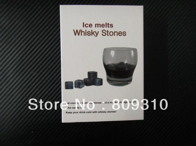 Whisky Stones, 9pcs/set with delicate box+velvet bag whiskey rock stone cube stone Free shipping+Wholesale