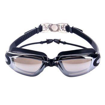 9848a2b7a7a5 Profesional de silicona resistente al agua gafas de natación Anti-niebla UV  gafas de las mujeres de los hombres de deportes de agua gafas con tapón