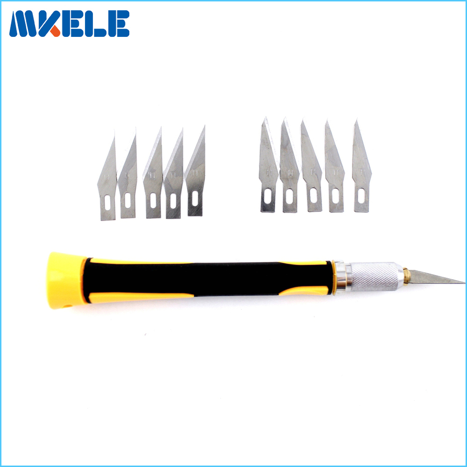 10cs Blades/Set Carving knife Hobby DIY Wood Engraving cutting Sculpture Knife Scalpel Cutting PCB Circuit Board Repair tk free shipping tools diy hobby engraving knife set precision knife wl 9303abs cutte set wood