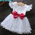 Bear leader do bebê girls dress 2016 verão novo estilo casual Vestidos de princesa Crianças Roupas Arco Design Floral para os Bebés dress