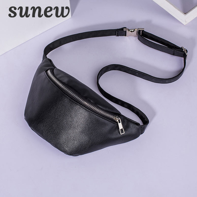 Waist Belt Bag Women Heuptas Waistbag Heuptasje Bolsa Cintura Heuptas Dames Waist Bags Soft Leather Fanny Pack Black Bumbag K028