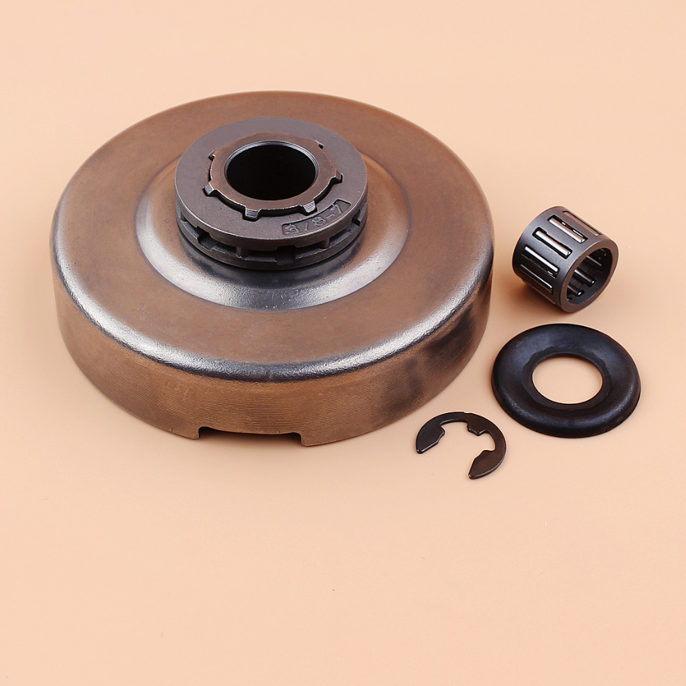 """3/8"""" 7T Clutch Drum Sprocket Bearing Washer Clip Kit For HUSQVARNA 365 362 371 372 XP 372XP Chainsaw"""