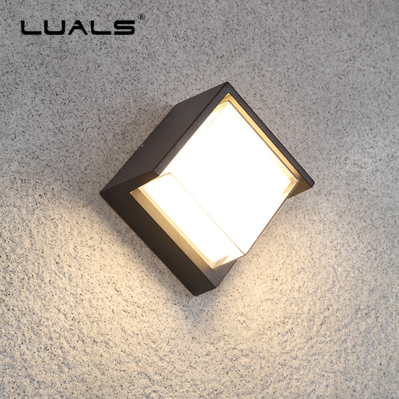купить Outdoor Wall Lamp Waterproof Wall Lights Aluminum Modern LED Wall Light Luxury Villa Art Wall Lamps Simple Garden Art Lighting