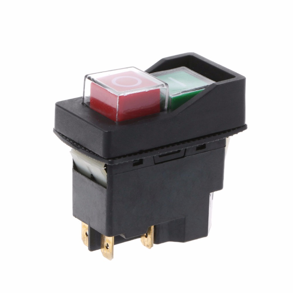 Image 2 - KLD 28A Waterproof Magnetic Switch Explosion proof Pushbutton Switches 220V 18A IP55-in Switches from Lights & Lighting
