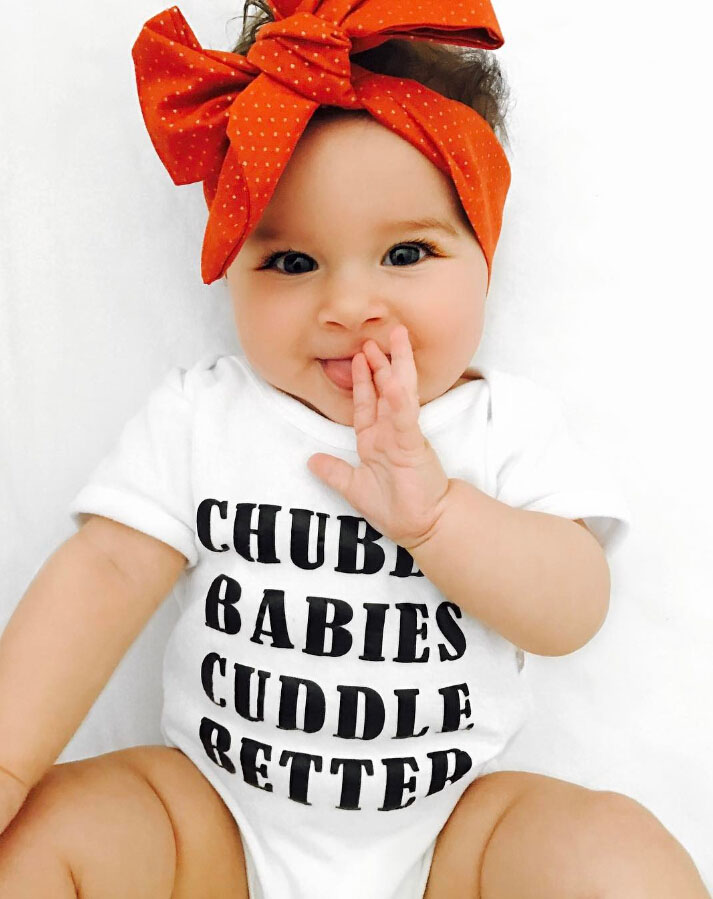 06e8cea8a43 Newborn Baby Girls chubby babies Rompers summer letter lettle boys ...