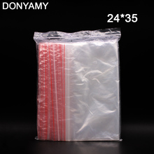 DONYAMY 100PCS 24X35CM Zip Lock Bags Clear 2MIL Poly Bag Reclosable Plastic Small Baggies Gift Candies Packing Bags