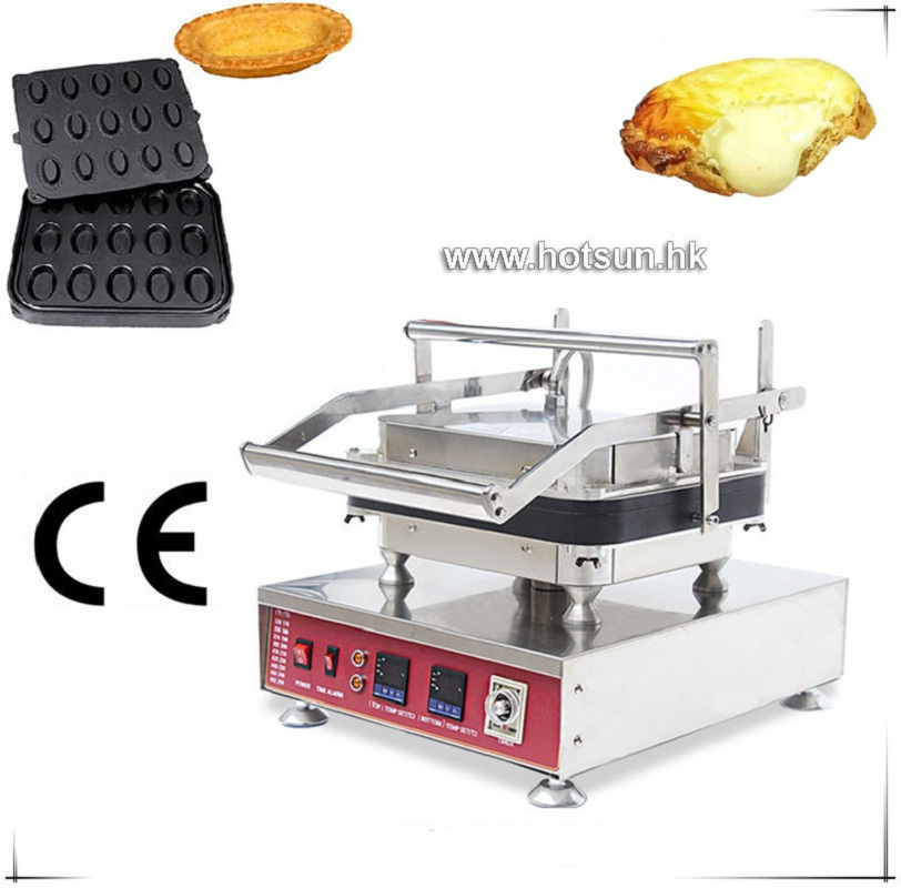 Free Shipping Heavy Duty Non Stick V V Electric Pcs Oval Fluted Egg Tart Pan Maker