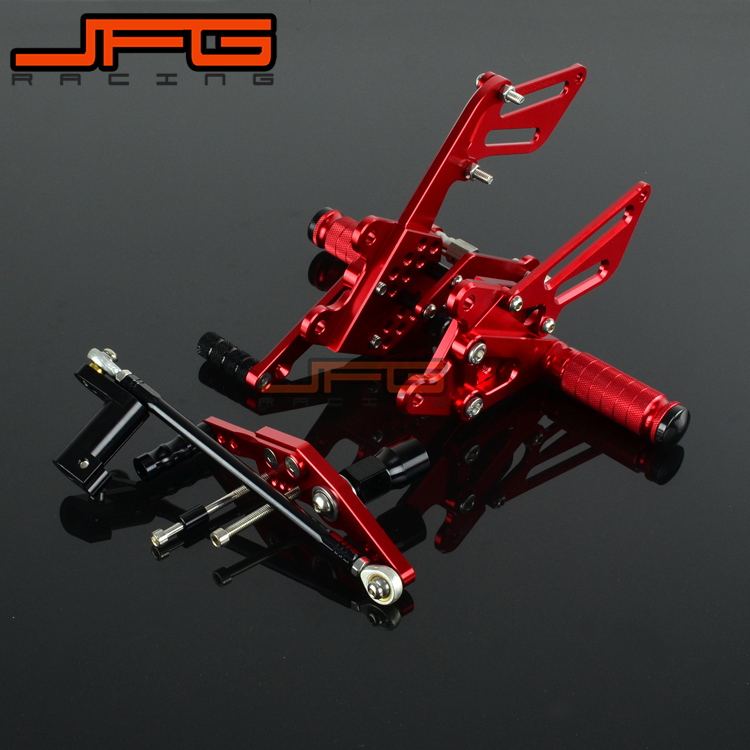 CNC Adjustable Foot Pegs Pedals Rest Rearset Footpegs For HONDA CBR1000RR CBR 1000 RR 2008 2009 2010 2011 2012 2013 2014 2015 2pcs bicycle plastic wheel pedals axle foot pegs