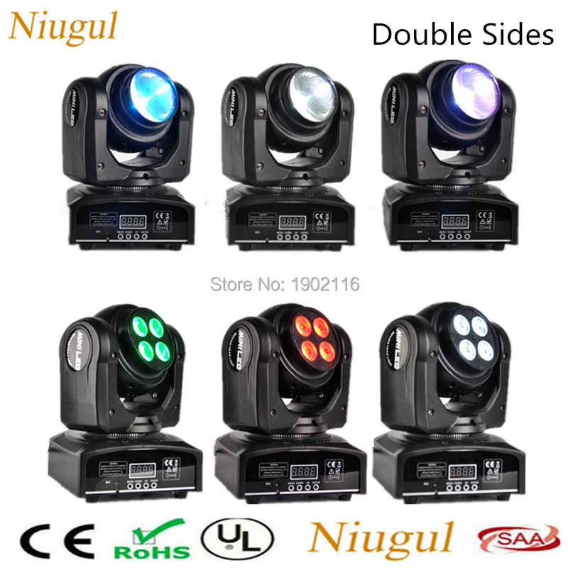 6pcs Double Face LED Spot DJ Stage LED Moving Head Light Two Effect Disco Lighting, RGBW 4in1 LED DMX512 wash beam effect Lights 4pcs lot 30w led gobo moving head light led spot light ktv disco dj lighting dmx512 stage effect lights 30w led patterns lamp