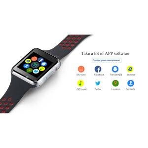Image 4 - Bluetooth Smart часы M3 с Камера Facebook Whatsapp Twitter Синхронизация SMS Smartwatch Поддержка SIM карты памяти для IOS Android