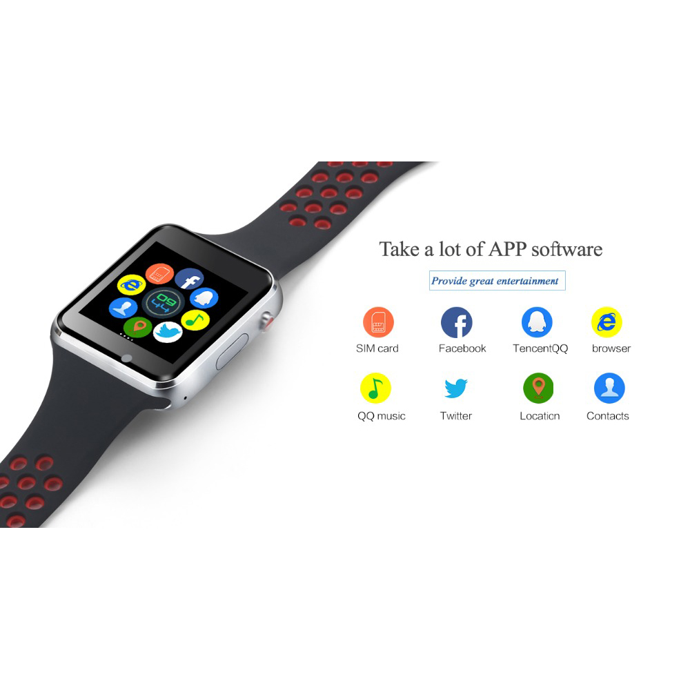 Image 4 - Bluetooth Smart Watch M3 With Camera Facebook Whatsapp Twitter Sync SMS Smartwatch Support SIM TF Card For IOS Android-in Smart Watches from Consumer Electronics