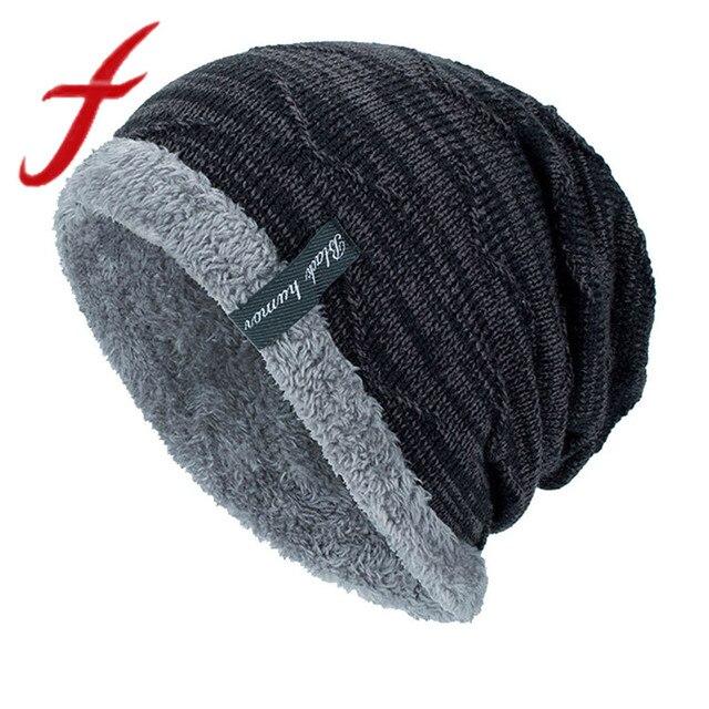 Feitong Unisex de los hombres de las mujeres de tejer gorra sombreros de  cobertura de la 9379bbc1cb8