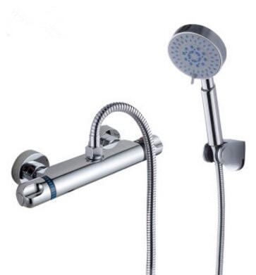 Bathroom thermostatic shower faucet shower head, Brass shower faucet ...